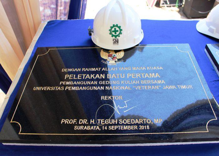 Peletakan Batu Pertama Tandai UPN Veteran Jawa Timur bangun Gedung Kuliah Bersama 6 Lantai