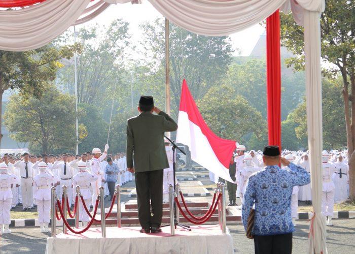 Upacara Peringatan HUT RI ke 73 UPN Veteran Jawa Timur, Kerja Kita Prestasi Bangsa