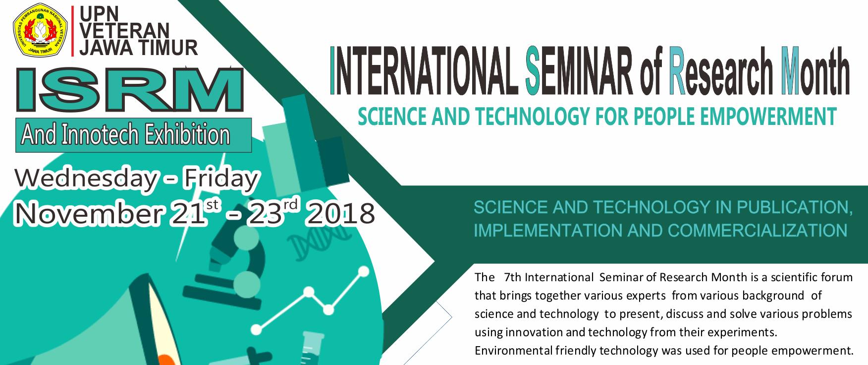 International Seminar of Research Month 2018