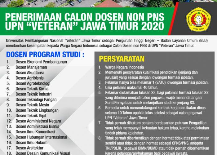 Penerimaan Calan Dosen Non-PNS 2020