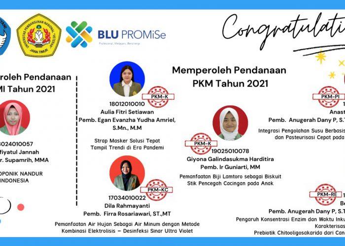 Selamat 1 Proposal KBMI & 5 Proposal PKM LOLOS PENDANAAN TAHUN 2021