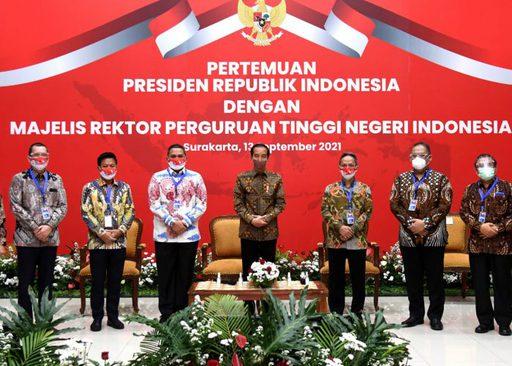 """Pertemuan Presiden Jokowi dengan Majelis Rektor PTN : """"Fasilitasi dan Kembangkan Talenta Mahasiswa"""""""